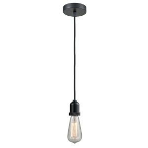 Whitney Matte Black Two-Inch One-Light Mini Pendant with Black Cord