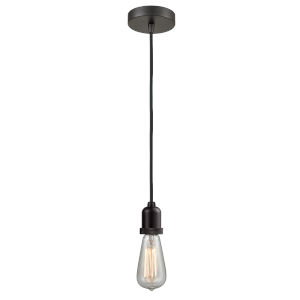 Whitney Oil Rubbed Bronze Two-Inch One-Light Mini Pendant with Black Cord