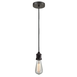 Edison Oil Rubbed Bronze Two-Inch One-Light Mini Pendant with Black Cord