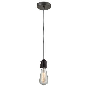 Winchester Oil Rubbed Bronze Two-Inch One-Light Mini Pendant with Black Cord