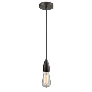 Fairchild Oil Rubbed Bronze One-Light Mini Pendant with Black Cord