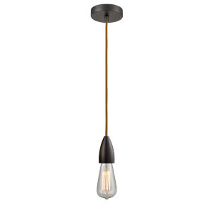 Fairchild Oil Rubbed Bronze One-Light Mini Pendant with Copper Cord