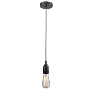 Chelsea Oil Rubbed Bronze One-Light Mini Pendant with Gray Cord
