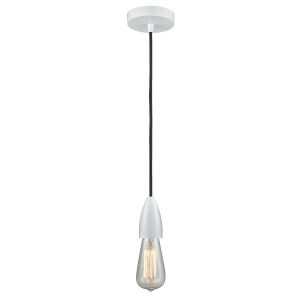 Fairchild White One-Light Mini Pendant with Black Cord