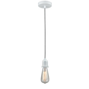 Whitney White Two-Inch One-Light Mini Pendant with Zebra Cord
