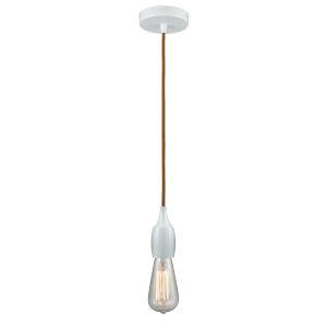 Chelsea White One-Light Mini Pendant with Copper Cord