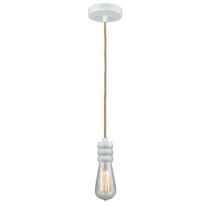 Gatsby White One-Light Mini Pendant with Rope Cord