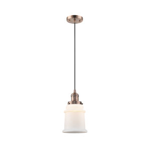 Canton Antique Copper One-Light Mini Pendant