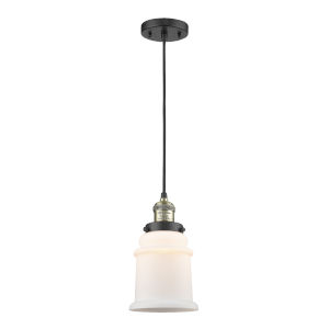 Canton Black Antique Brass LED Mini Pendant