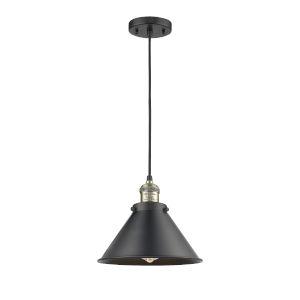 Briarcliff Black Antique Brass LED Pendant