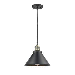 Briarcliff Black Antique Brass One-Light Pendant
