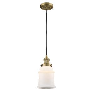 Canton Brushed Brass LED Mini Pendant