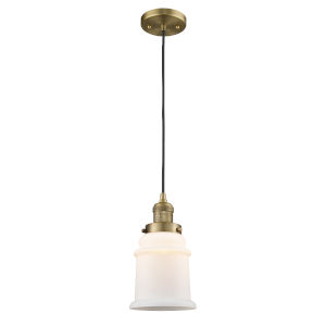 Canton Brushed Brass One-Light Mini Pendant