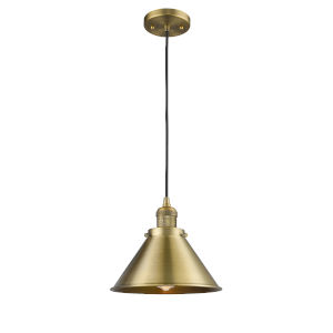 Briarcliff Brushed Brass LED Pendant