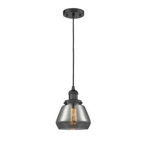 Fulton Matte Black One-Light Mini Pendant