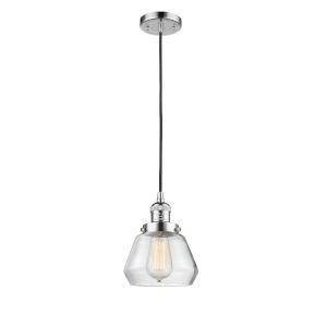 Fulton Polished Chrome One-Light Mini Pendant with Clear Glass