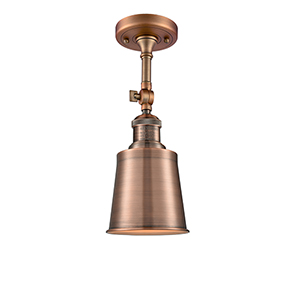 Addison Antique Copper 13-Inch LED Semi Flush Mount