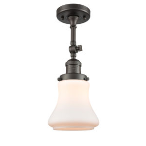 Franklin Restoration Oil Rubbed Bronze 14-Inch LED Semi-Flush Mount with Matte White Bellmont Shade
