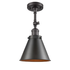 Franklin Restoration Oil Rubbed Bronze 16-Inch One-Light Semi-Flush Mount with Appalachian Oil Rubbed Bronze Metal Shade