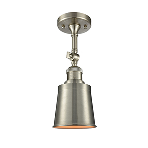 Addison Brushed Satin Nickel 13-Inch LED Semi Flush Mount