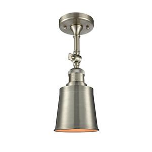 Addison Brushed Satin Nickel 13-Inch One-Light Semi Flush Mount