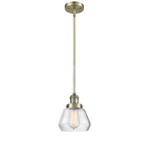 Fulton Antique Brass One-Light Mini Pendant