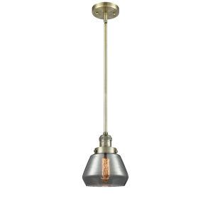 Fulton Antique Brass One-Light Hang Straight Swivel Mini Pendant