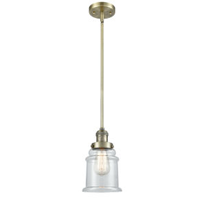 Canton Antique Brass One-Light Hang Straight Swivel Mini Pendant