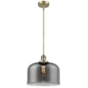 X-Large Bell Antique Brass LED Hang Straight Swivel Pendant