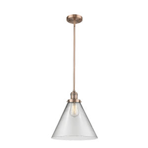 X-Large Cone Antique Copper LED Pendant
