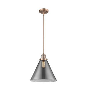 X-Large Cone Antique Copper LED Hang Straight Swivel Pendant