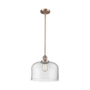X-Large Bell Antique Copper LED Pendant
