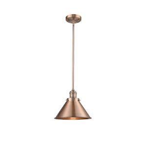 Briarcliff Antique Copper LED Hang Straight Swivel Pendant