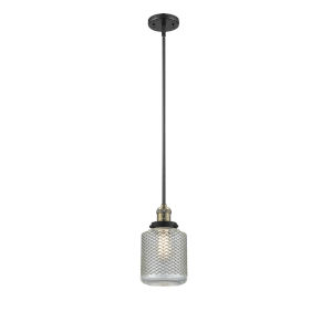 Stanton Black Antique Brass One-Light Mini Pendant