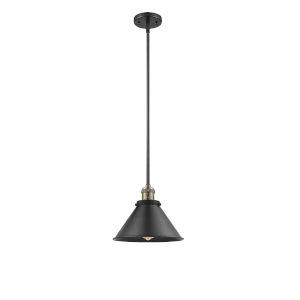 Briarcliff Black Antique Brass One-Light Hang Straight Swivel Pendant