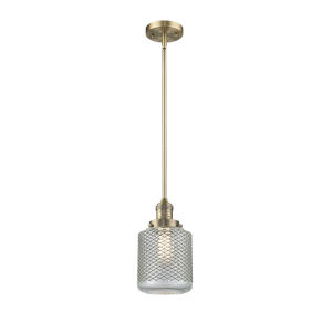 Stanton Brushed Brass LED Mini Pendant