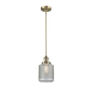 Stanton Brushed Brass LED Mini Pendant