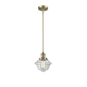 Small Oxford Brushed Brass LED Mini Pendant