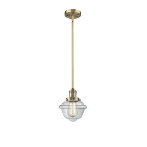 Small Oxford Brushed Brass One-Light Mini Pendant