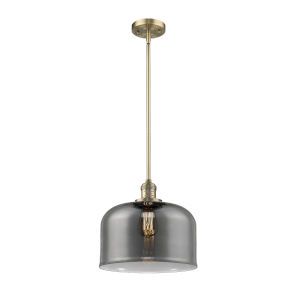 X-Large Bell Brushed Brass One-Light Hang Straight Swivel Pendant