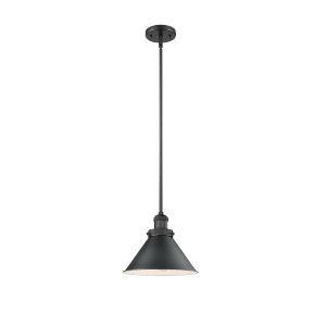 Briarcliff Matte Black One-Light Hang Straight Swivel Pendant
