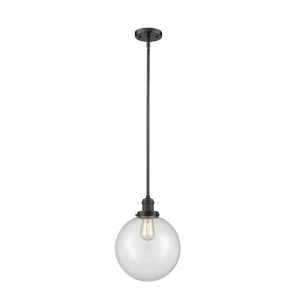 Franklin Restoration Oil Rubbed Bronze 10-Inch LED Pendant with Clear Glass Shade
