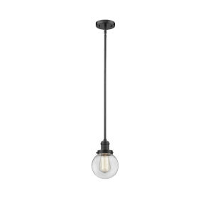 Franklin Restoration Oil Rubbed Bronze Six-Inch LED Mini Pendant with Clear Glass Shade