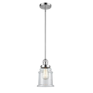 Canton Polished Chrome One-Light Hang Straight Swivel Mini Pendant