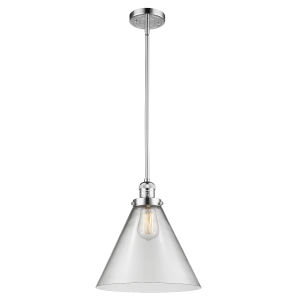 X-Large Cone Polished Chrome LED Pendant