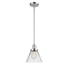Large Cone Polished Chrome LED Hang Straight Swivel Mini Pendant