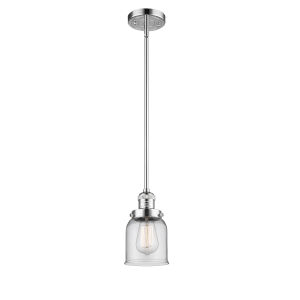 Franklin Restoration Polished Chrome Five-Inch LED Mini Pendant with Clear Glass Shade