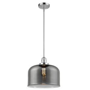 X-Large Bell Polished Chrome One-Light Hang Straight Swivel Pendant
