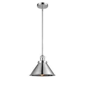 Briarcliff Polished Chrome One-Light Hang Straight Swivel Pendant