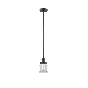 Canton Polished Nickel One-Light Hang Straight Swivel Mini Pendant with Matte White Glass